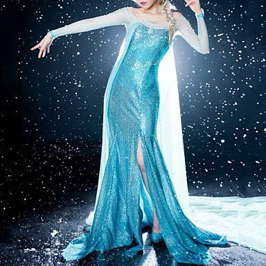 Gefrorene Sparkle Prinzessin Elsa Blue Dress Cosplay – EUR € 98.99