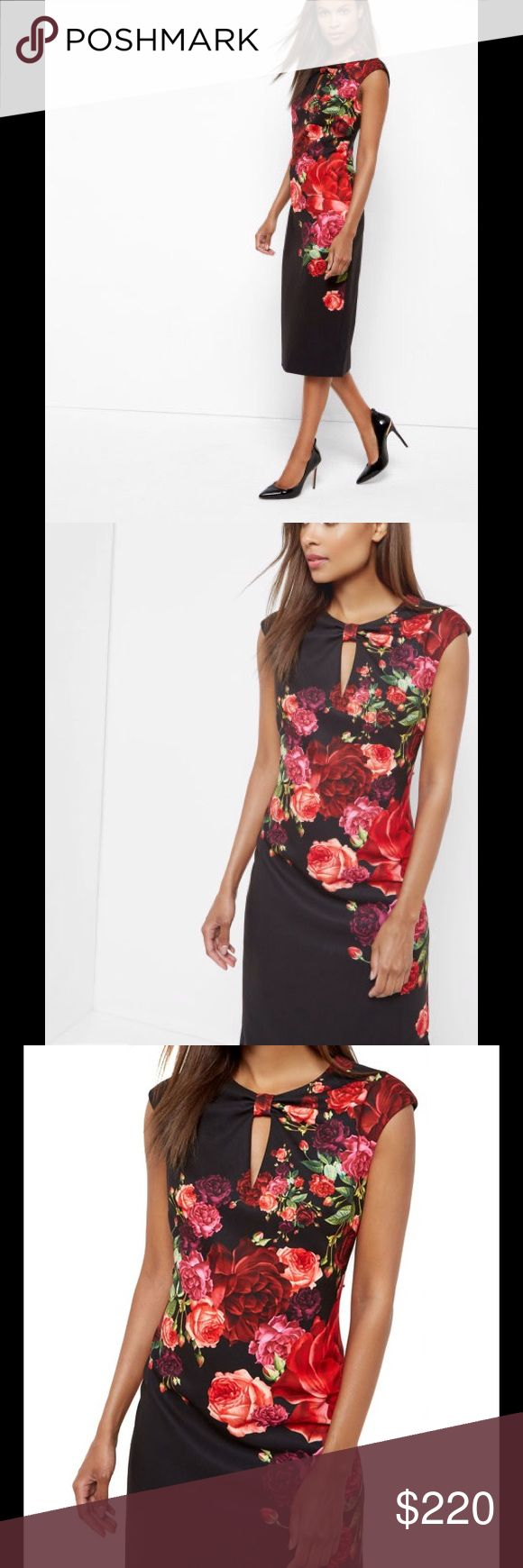 Selling this Ted Baker Womens Mirrie Juxtapose Rose Knot Dress on Poshmark! My username is: ornelashtembari. #shopmycloset #poshmark #fashion #shopping #style #forsale #Ted Baker #Dresses & Skirts