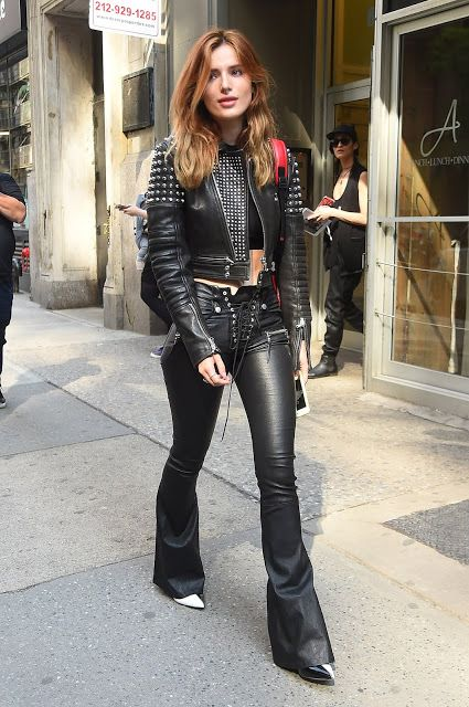 76cee89291c6 Bella Thorne in leather pants and a leather jacket (Lovely Ladies in ...