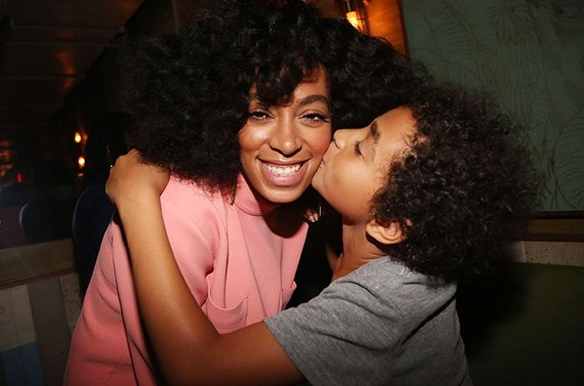 Solange and her son