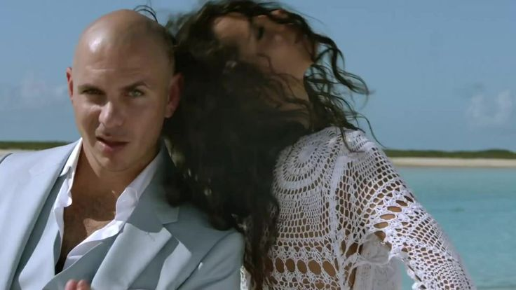 Raffaella Modugno in Pitbull's Timber video; crochet dress
