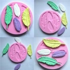 Silicone 3D Feather Fondant Mold Cake Decoration DIY Mold Mould