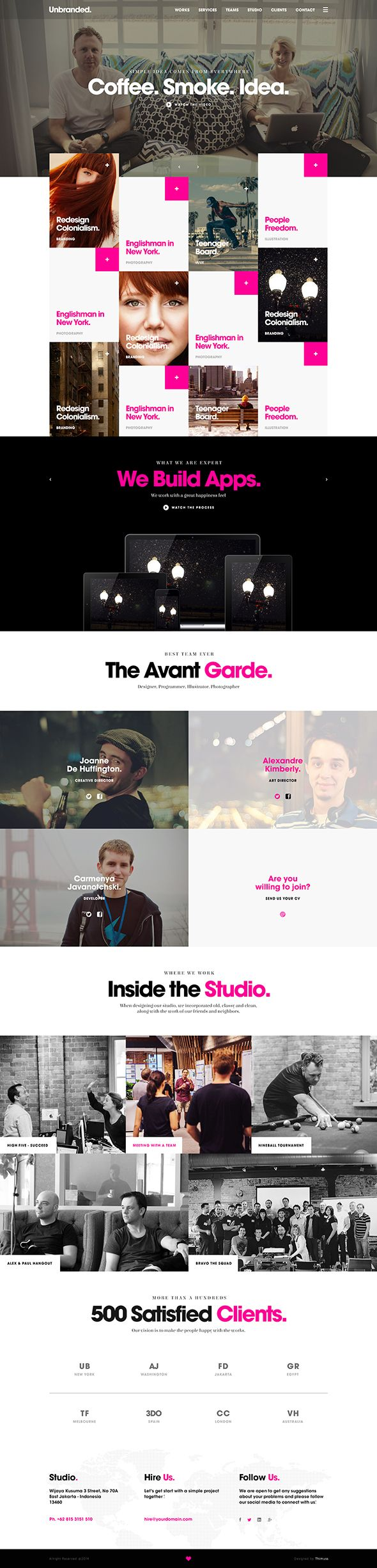 Unbranded. - One Page Site on Behance