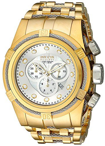 Invicta 12743 Reserve Bolt Zeus Gold Swiss Chronograph Stainless Steel Watch
