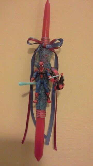Πασχαλινη λαμπαδα Spiderman