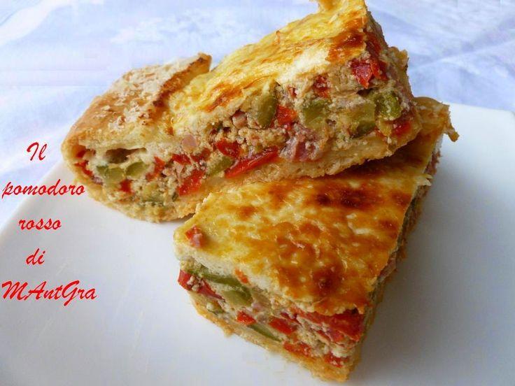 Torta di peperoni e zucchine. #ricetta di @ilpomodororosso