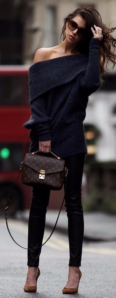 black on black | cashmere + jeans