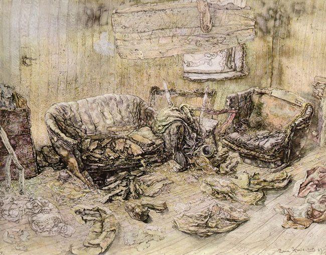 Alfred's Room (1964-1967) watercolour Eric Freifeld