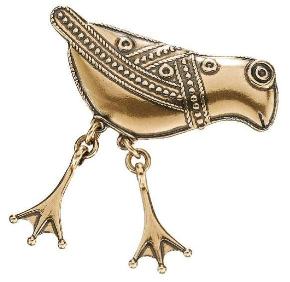 Kalevala Koru / Kalevala Jewelry / BIRD OF HATTULA BROOCH, material: bronze