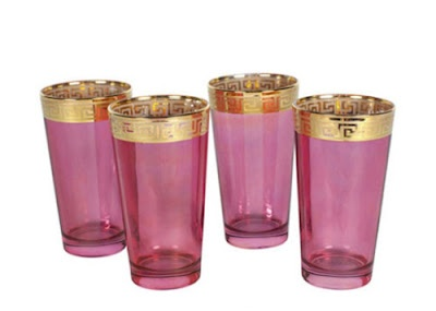 love these: Pretty Glasses, Keys Glasses, Greekkey, Gold Greek, Teas Glasses, Greek Keys, Pink Gold, Pink Glasses, Pink And Gold