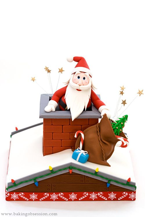 Santa and the Chimney Cake Tutorial