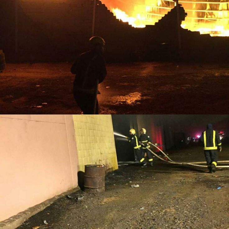 مدني تبوك يباشر الآن حريقا في مستودع إسفنج على طريق المدينة المنورة