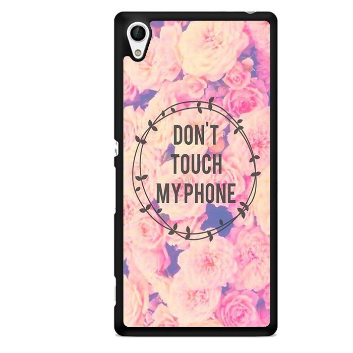 Do Not Touch My Phone Flower TATUM-3489 Sony Phonecase Cover For Xperia Z1, Xperia Z2, Xperia Z3, Xperia Z4, Xperia Z5