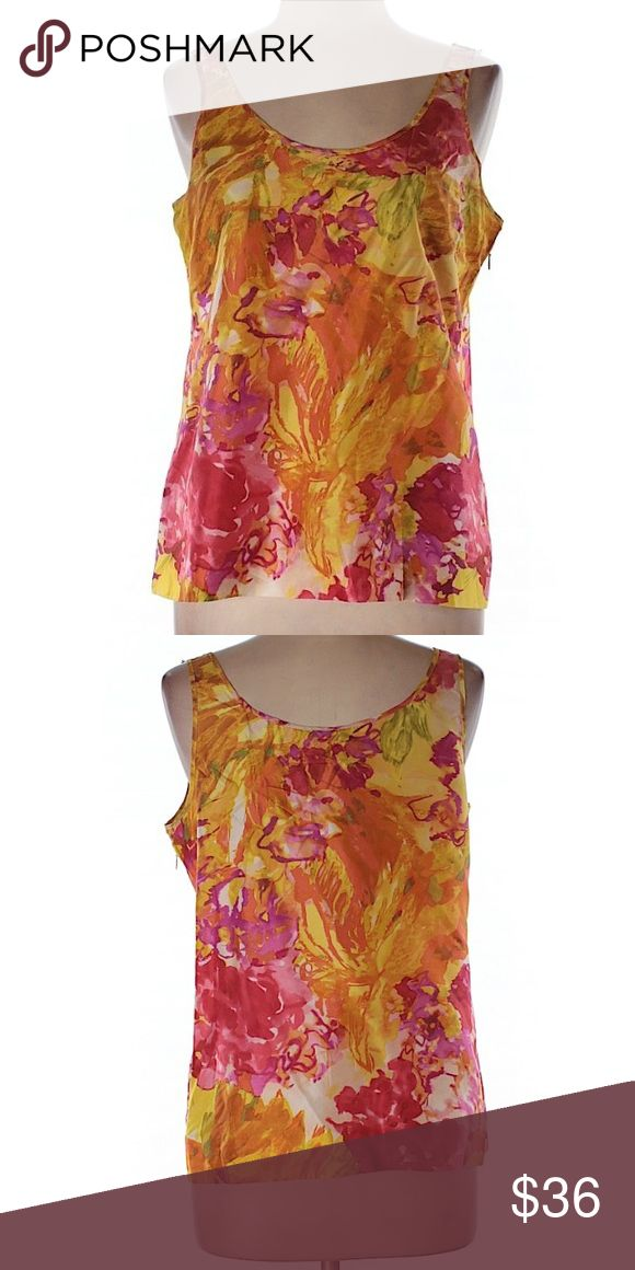 "J.Crew floral cami tank Excellent condition // 100% silk // 30"" chest 21""long J. Crew Tops Tank Tops"