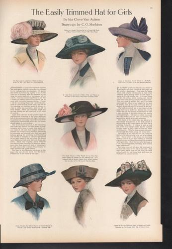 Easily trimmed hat styles for girls e3390b86614