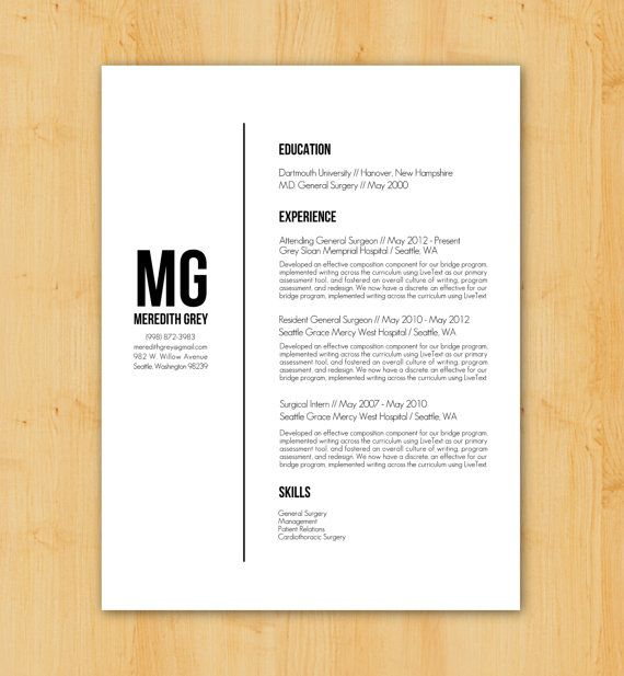 54 best resume images on pinterest resume templates for Minimalist writing