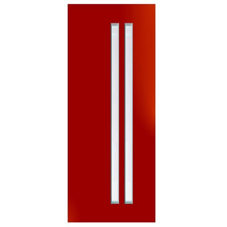 Hume Doors & Timber 2040 x 820 x 40mm Focus Entrance Door With Translucent Laminate Glass
