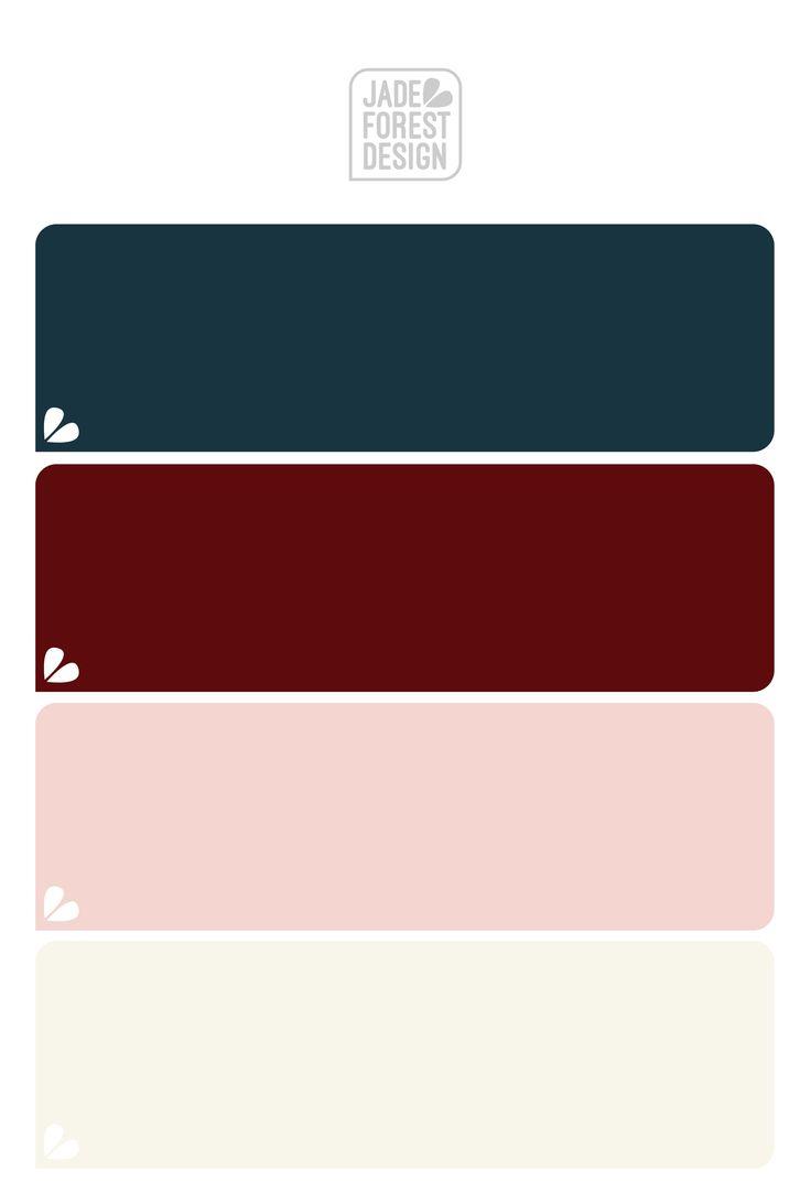 Burgundy, Navy, Blush & Cream Color Palette | Burgundy ...