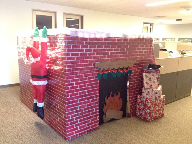 Cubical holiday decorating!!! THIS is happening next year!