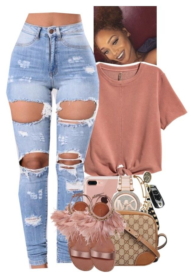 """Untitled #2071"" by toniiiiiiiiiiiiiii ❤ liked on Polyvore featuring H&M, Belkin, Alex and Ani, Michael Kors, Gucci and Miu Miu"
