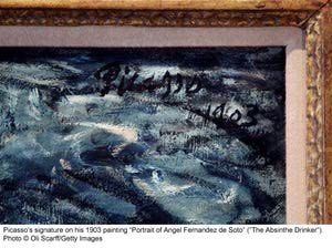 Photo Gallery of Famous Paintings by Famous Artists: Painting Signature: Picasso