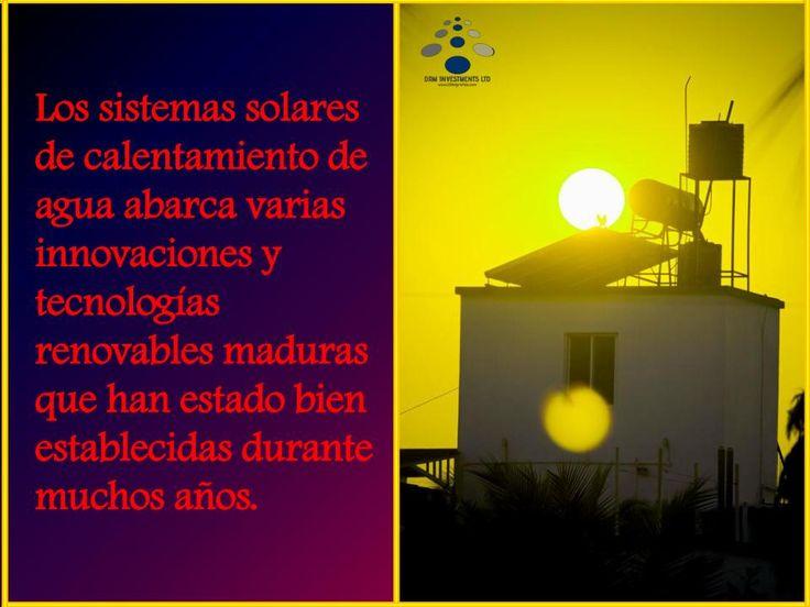 Los sistemas solares de calentamiento de agua abarca varias innovaciones y tecnologías renovables maduras que han estado bien establecidas durante muchos años. www.drmprefab.com