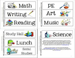 FREE subject labels. Add magnets to stick on white board or print on sticker paper to help you organize!