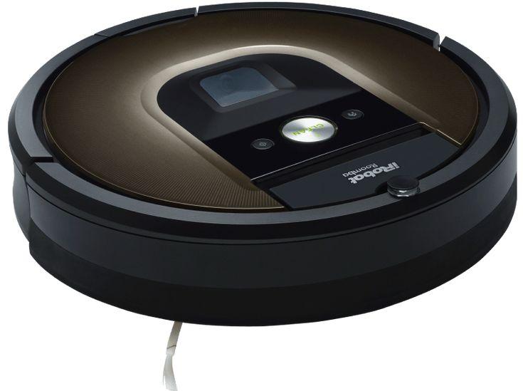 IROBOT Roomba 980 Saugroboter, Rund, Schwarz