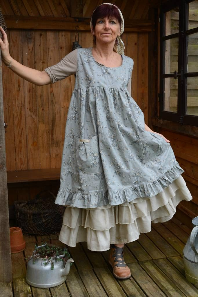 this (the blue part) is actually an apron, but would totally work as a smock-style dress