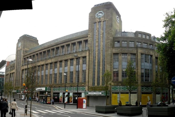 Newcastle Co-op: Another Art Deco building, this time rather more monumental that the Fenwick building