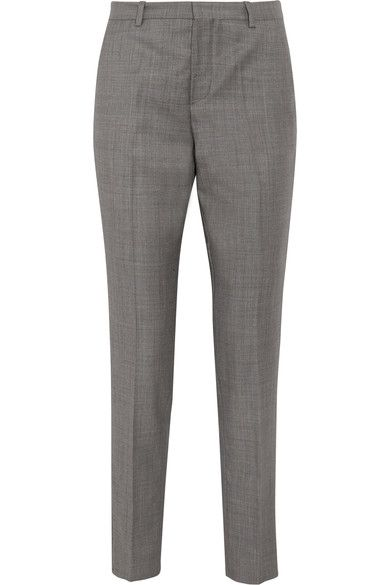 Gray wool-twill Concealed button, hook and zip fastening at front  100% wool; lining: 100% polyester  Dry clean