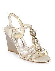 Kristen Embellished Wedge Sandals
