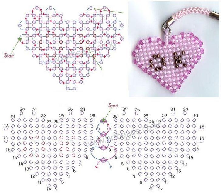 Кулоны и брелоки Сердечки-1