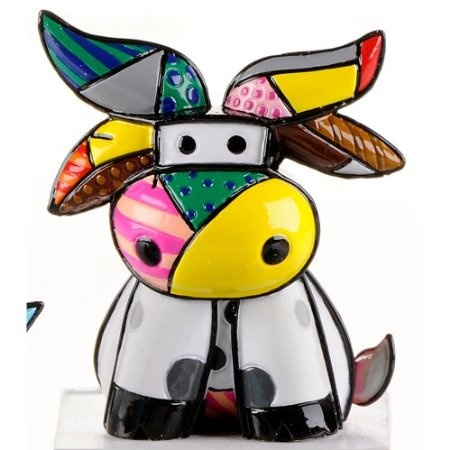 Amazon.com: Romero Britto Mini Cow, Brazil 2012 Edition: Patio, Lawn & Garden