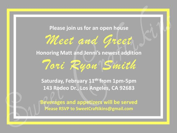 Diy Printable Meet And Greet Baby Shower Invitation Grey