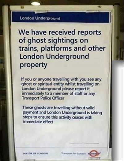 Scroll2Lol.com - How London deals with ghosts. Pretty sure this is faked, but hilarious.