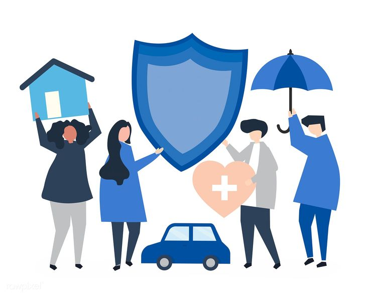 People carrying icons related to insurance   free image by ...