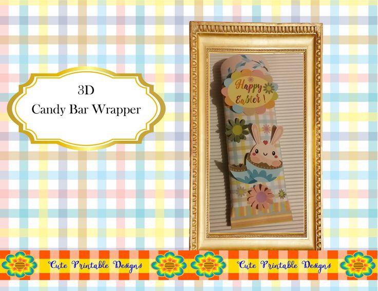 Easter,Easter Candy Bar Wrapper,Hersheys Bar Wrapper, Printable Bar Wrapper, Chocolate Bar Wrapper, Digital, BARWRAPPERPAS-TGH-193 de CutePrintableDesigns en Etsy