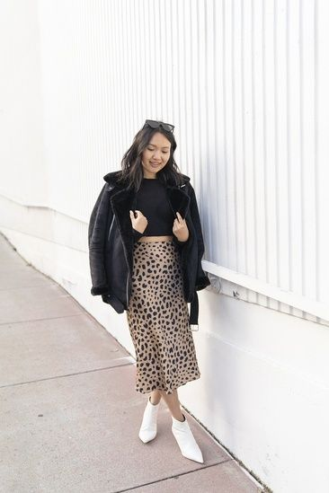 671c2cf82e This Réalisation Par leopard print skirt is coming with my to all my  holiday parties. #ShopStyle #MyShopStyle #Holiday #Petite