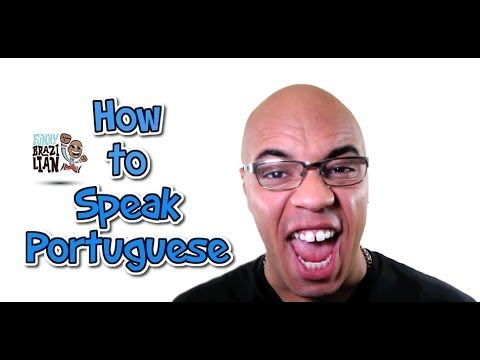 HOW TO SPEAK PORTUGUESE - Funny Brazilian ... this guy is hilarious, but yikes! Portuguese is so different from Spanish. (there are some similar words and a few identical words but the language is spoken so very differently, it's hard for me to pick it up and absorb the meanings. Spanish is so much easier ...)