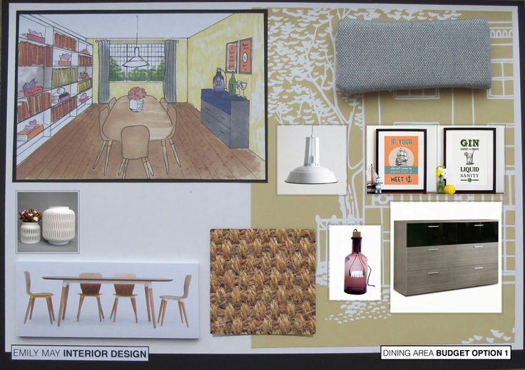 Dining room presentation board 1
