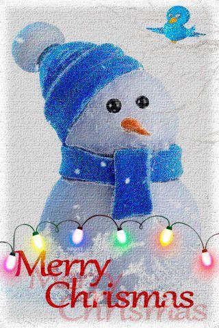 Рождественский снеговик - анимация на телефон №1207693