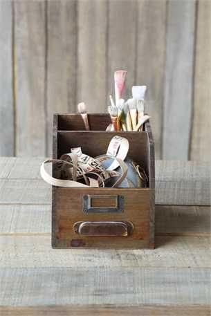 Theres No Reason To Be Unorganized Especially When Our Rustic Wood Organizer Looks This Darn Cute Use It In Your Office Craft Room Or Even The