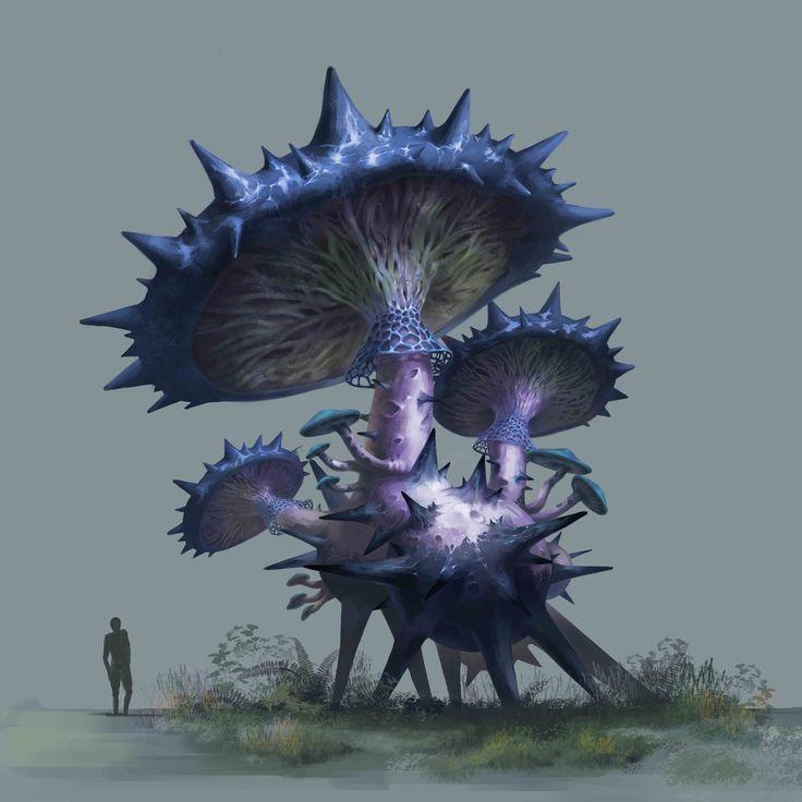 Swamp mushroom, seung il ju on ArtStation at https://www.artstation.com/artwork/vYmn3