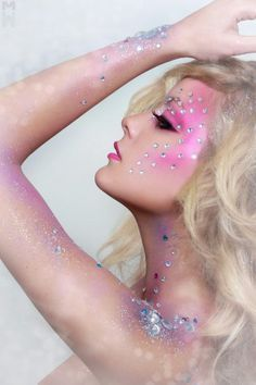 Bedazzled. #creative #makeup                                                                                                                                                                                 More