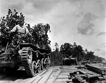 World War II in British Malaya Japanese tanks on the advance through marshland towards Johor Bahru - late January 1942 - Vintage property of ullstein bild - pin by Paolo Marzioli
