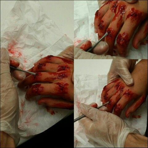 Shredded knuckles sfx makeup