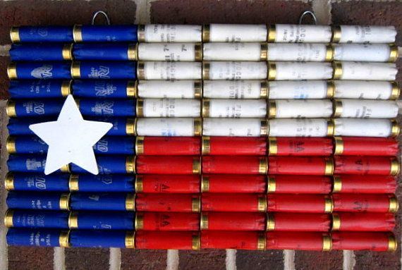 Shotgun Shell Texas State Flag Wall Decor    What better way to show your love the great state of Texas and your Second Amendment rights than a