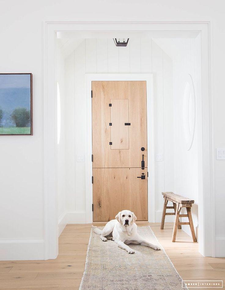Dutch door in natural wood