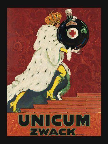 Zwack Unicum Drink Liqueur Liquor Hungary King 12 X 16 Image Size Vintage Poster Reproduction